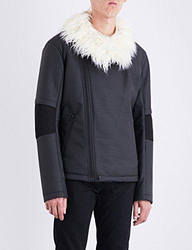 ヘルムート ラング アウター ジャケット・ブルゾン faux-fur collar shell jacket BLACK 1f0 [並行輸入品]