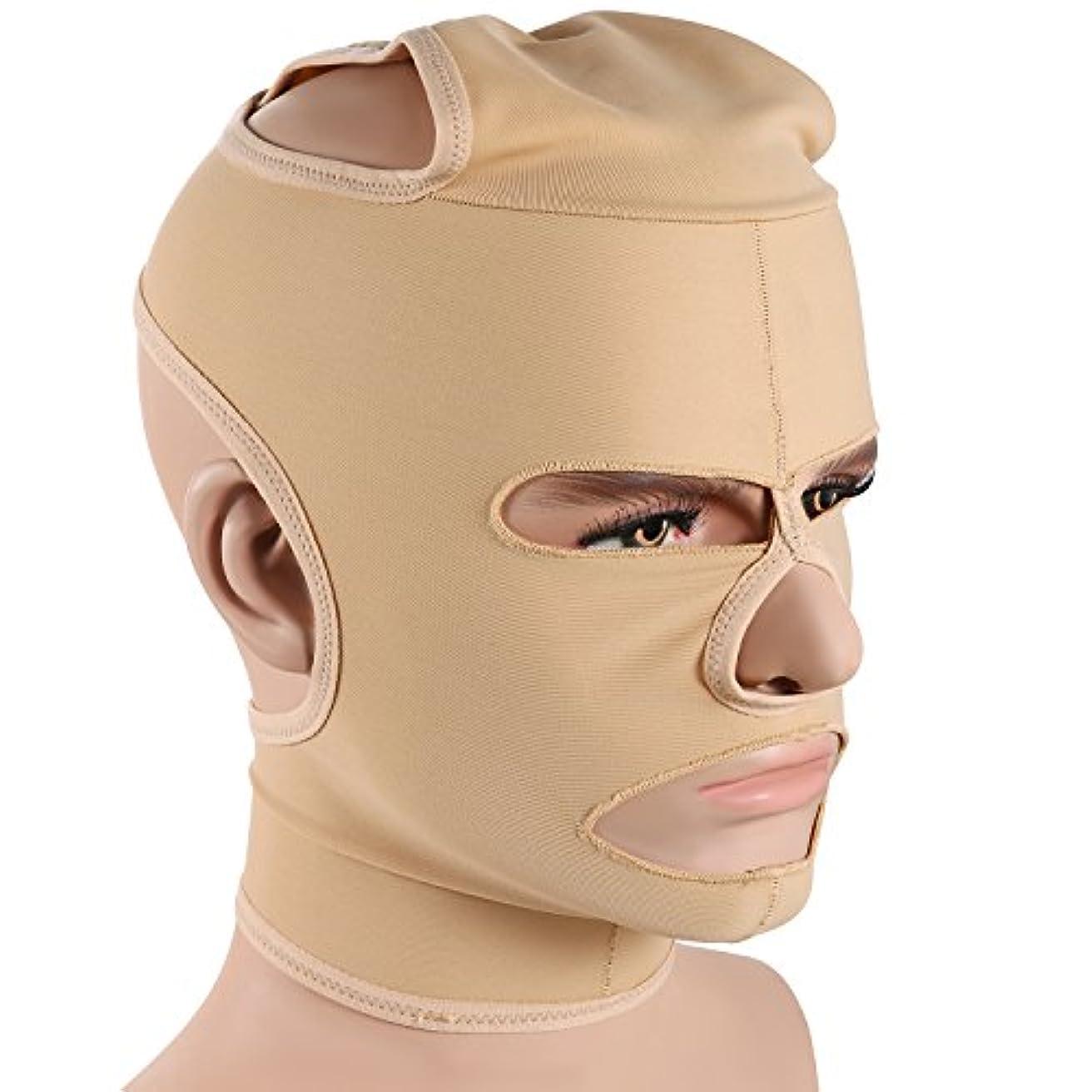 破裂無駄なバックグラウンドJewelryWe 小顔補正マスク 小顔ベルト 法令線予防 シワ防止 美顔 額、顎下、頬リフトアップ 男女兼用 Mサイズ