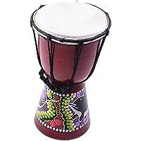 Baosity 4インチ ミニ ジャンベ 手ドラム ダンスドラム パーカッション 打楽器 練習や装飾ため
