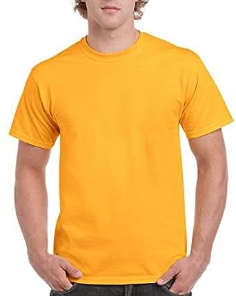 ギルダン GILDAN Tシャツ 米国ブランド 半袖 6oz ヘビーウェイト サイズ S~XL 58色 2000 (S, ゴールド) [並行輸入品]