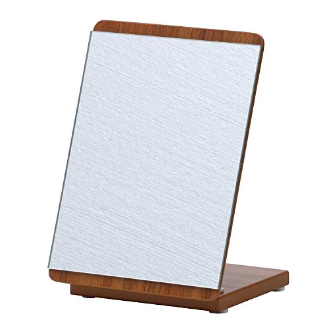 明確な画家国民投票不二貿易 姿見 卓上ミラー 幅16cm 木調ブラウン 折りたたみ ロセット 14430
