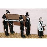 LangleyモデルFuneral 4 Pallbearers Coffin Priest OOスケール未塗装キットf64