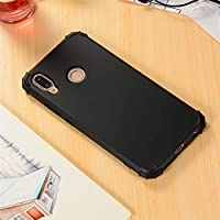 Huawei P20 Lite シェル, Happon スタイリッシュ 薄いです 携帯電話ケース 耐衝撃性 肌 保護 カバー シェル 〜と コーナー 保護 設計 の Huawei P20 Lite (Black)