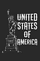 United States of America: diary, notebook, book 100 lined pages in softcover for everything you want to write down and not forget