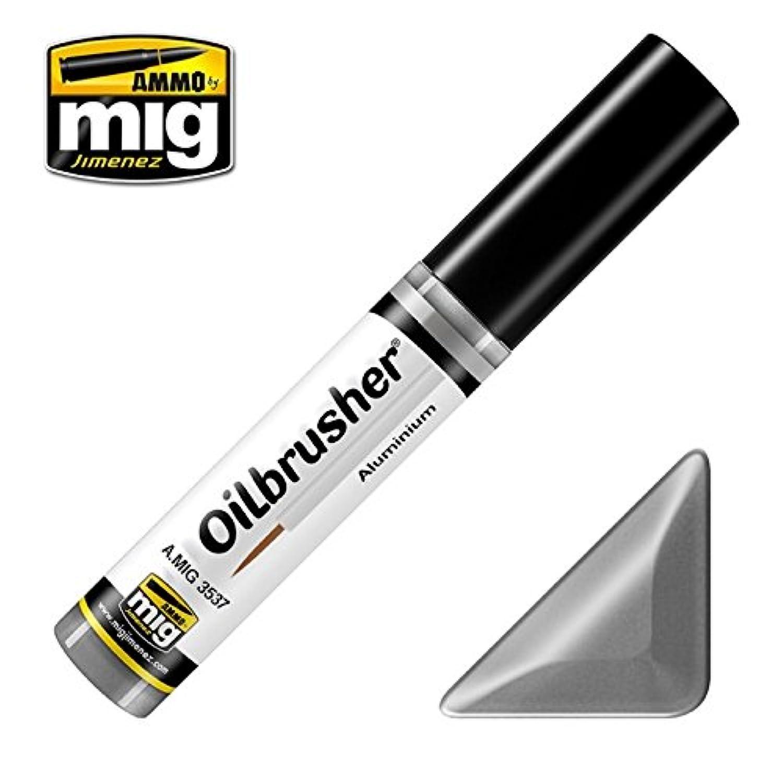AmmoのMig oilbrusherアルミニウム – Oilペイントwith Fineブラシ付きアプリケーター# 3537