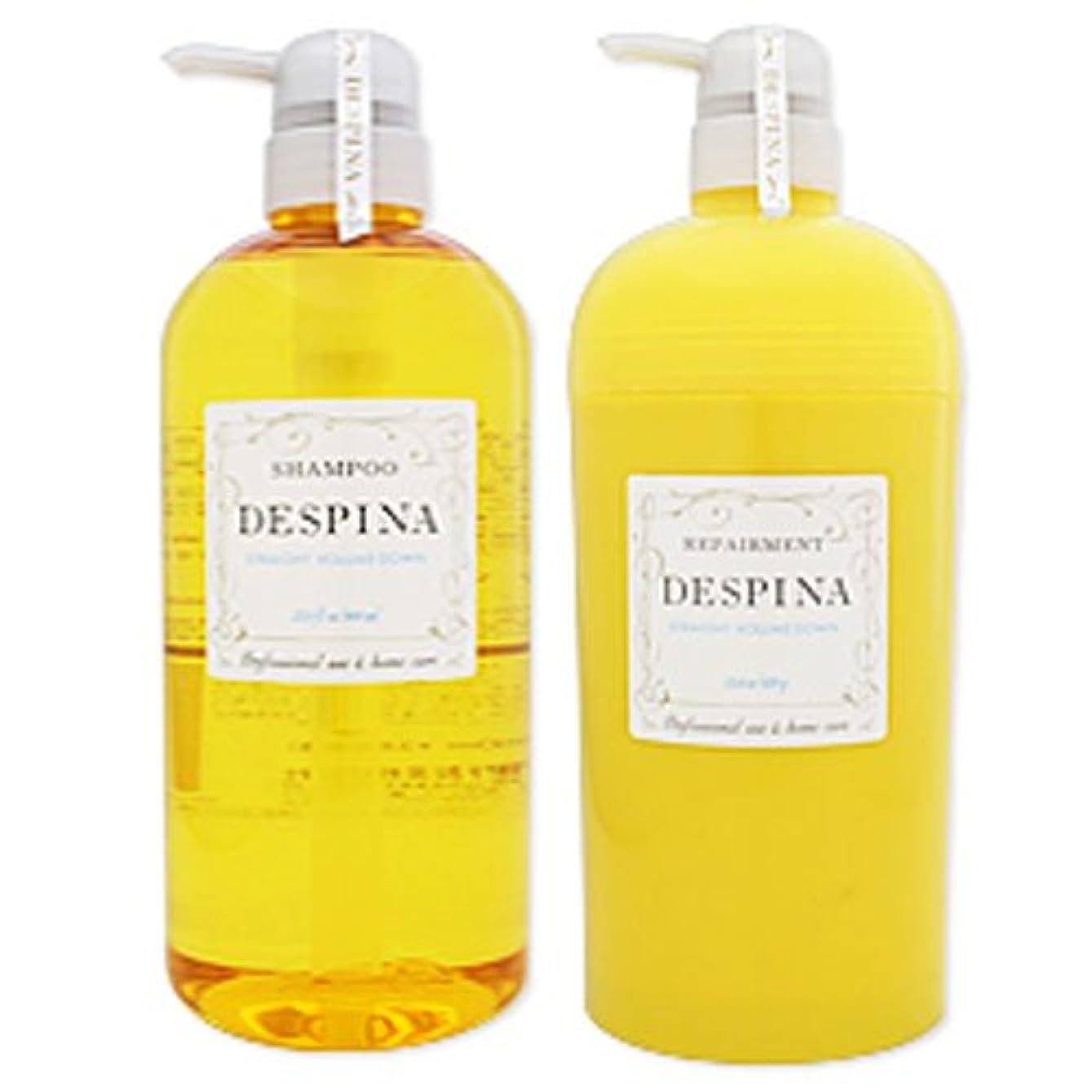 入浴特異なジュースナカノ デスピナ  ストレート ボリュームダウン シャンプー800ml&リペアメント670gセット NAKANO DESPINA STRAIGHT