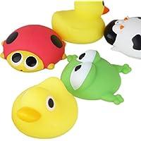 (ビグッド)Bigood お風呂 おもちゃ 誕生日 プレゼント べびー 知育玩具 赤ちゃん 子供 水鉄砲 男の子 女の子 バストイ 5個セット ランダム 動物