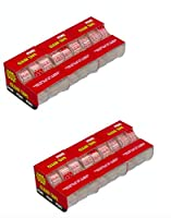 Basic Deals Super Clear 3/4 x 300インチ テープディスペンサー 18個パック