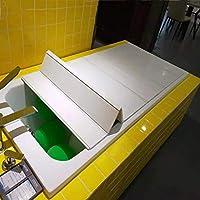 浴室用ラック 浴槽カバー折りたたみ式断熱材防塵収納厚手の耐荷重PVCホワイト浴槽サポート 調節可能なワインラック本棚ブラケット (サイズ さいず : L75*W80*H0.6CM)