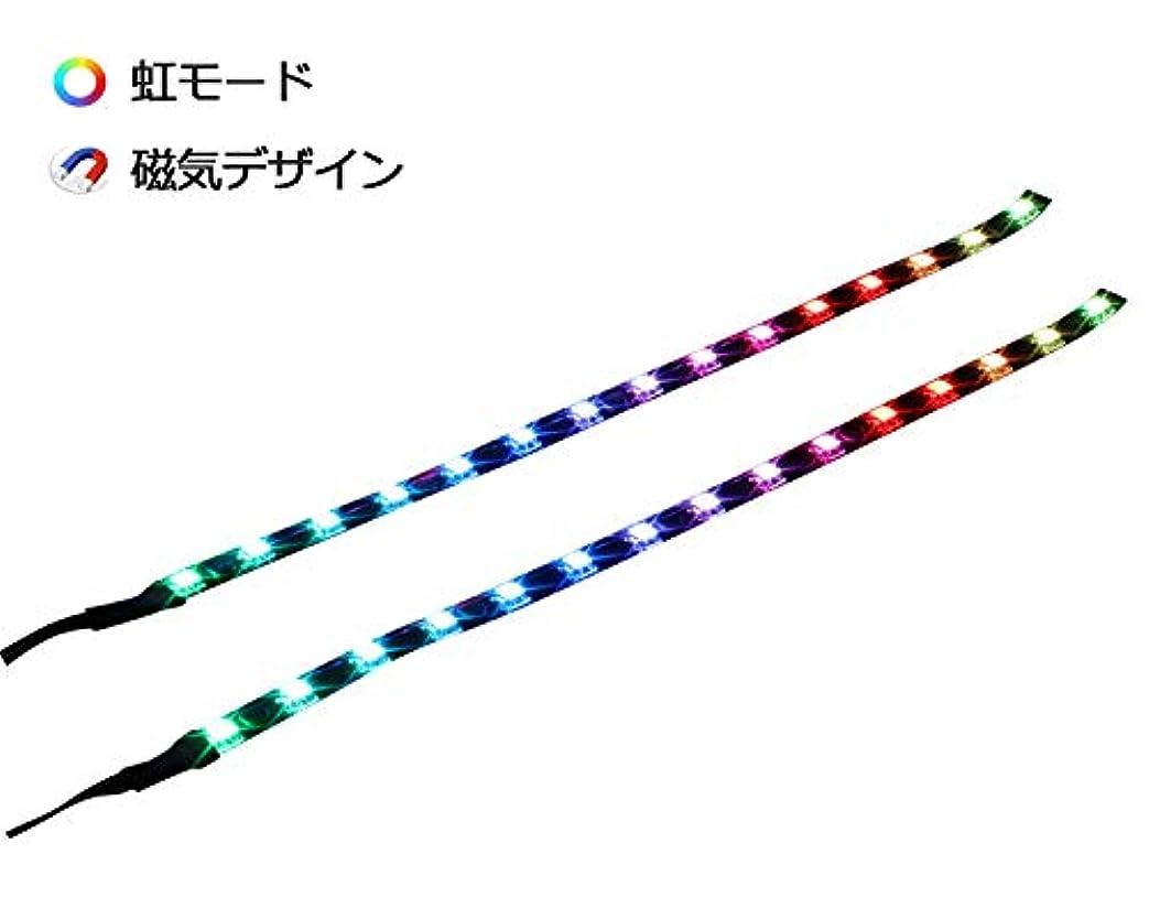 上予測子見積りPCケース用マグネット経由レインボーRGB LEDストリップコンピューター照明(2個30cm、レインボーファンキットエクステンションアクセサリー、A&Dシリーズ)