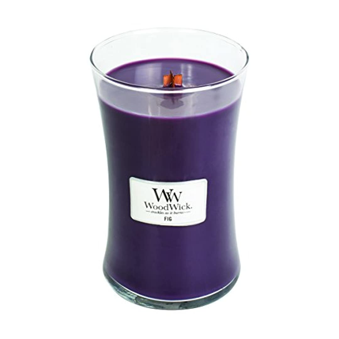 物理学者無しパットFig – WoodWick 22oz Medium Jar Candle Burns 180時間