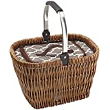 "overandback 824434 Picnic Basket, 15"", Natural"