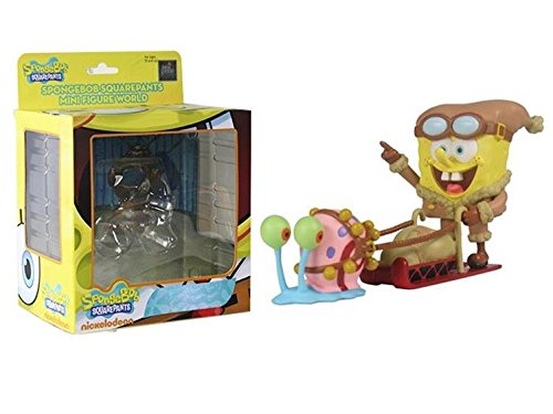 Spongebob Squarepants Mini Figure World Wave 04 - Spondgebob Sledding Spongebob Squarepants Figures [병행수입품]-