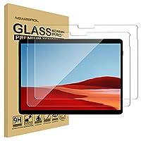 【2枚セット】Newzerol For Surface Pro X 専用 強化ガラスフィルム 新型【旭硝子素材・0.26mm・2.5D・耐衝撃硬度9H・透過率・飛散防止・気泡防止】Surface Pro X タブレット用 液晶保護フィルム