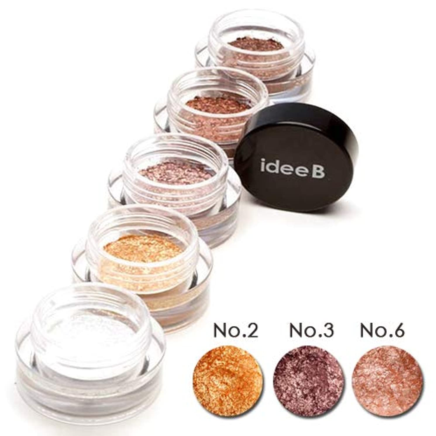 【10色のうち、3色選択】しっとりきらきらアイシャドウ ジュエルジェルアイシャドウ (IDEEB Jewel Gel Eyeshadow) 3g * 3個 (選択7. 02+03+06)