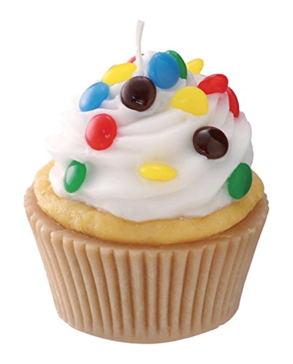 ハッピー結核ホイップカメヤマキャンドルハウス 本物そっくり! アメリカンカップケーキキャンドル ホワイトクリーム チョコレートの香り