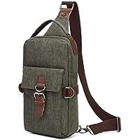 Wukong Men's Canvas Sling Shoulder Bag Backpack Chest Daypack Outdoor Travel