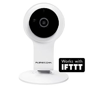 PLANEXネットワークカメラスマカメフルHD Google Home/Amazon Alexa対応 200万画素・広角130度・暗視機能・双方向通話・モバイルルーター対応・合法カメラCS-QR100F