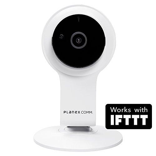 PLANEXネットワークカメラスマカメフルHD Google Home/Amazon Alexa対応 200万画素・広角130度・暗視機能・双方向通話・モバイルルーター対応CS-QR100F