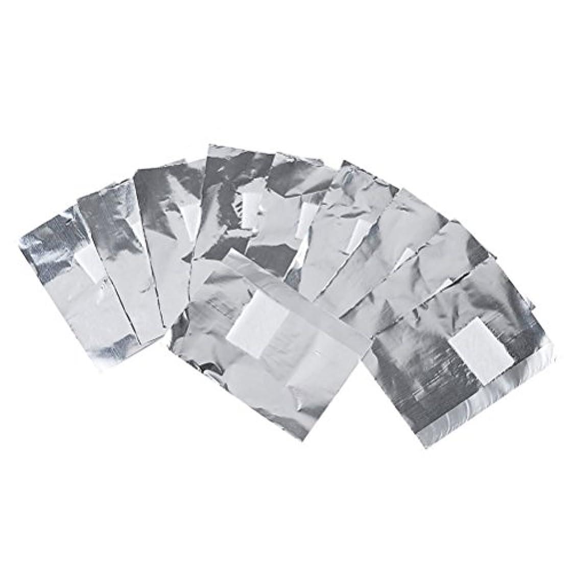 悲しいことに略奪投獄Frcolor ネイルオフ ジェルオフリムーバー アクリルUVジェル ネイルポリッシュをきれいにオフする ジェル 使い捨て コットン付きアルミホイル ネイル用品 キューティクル 200枚
