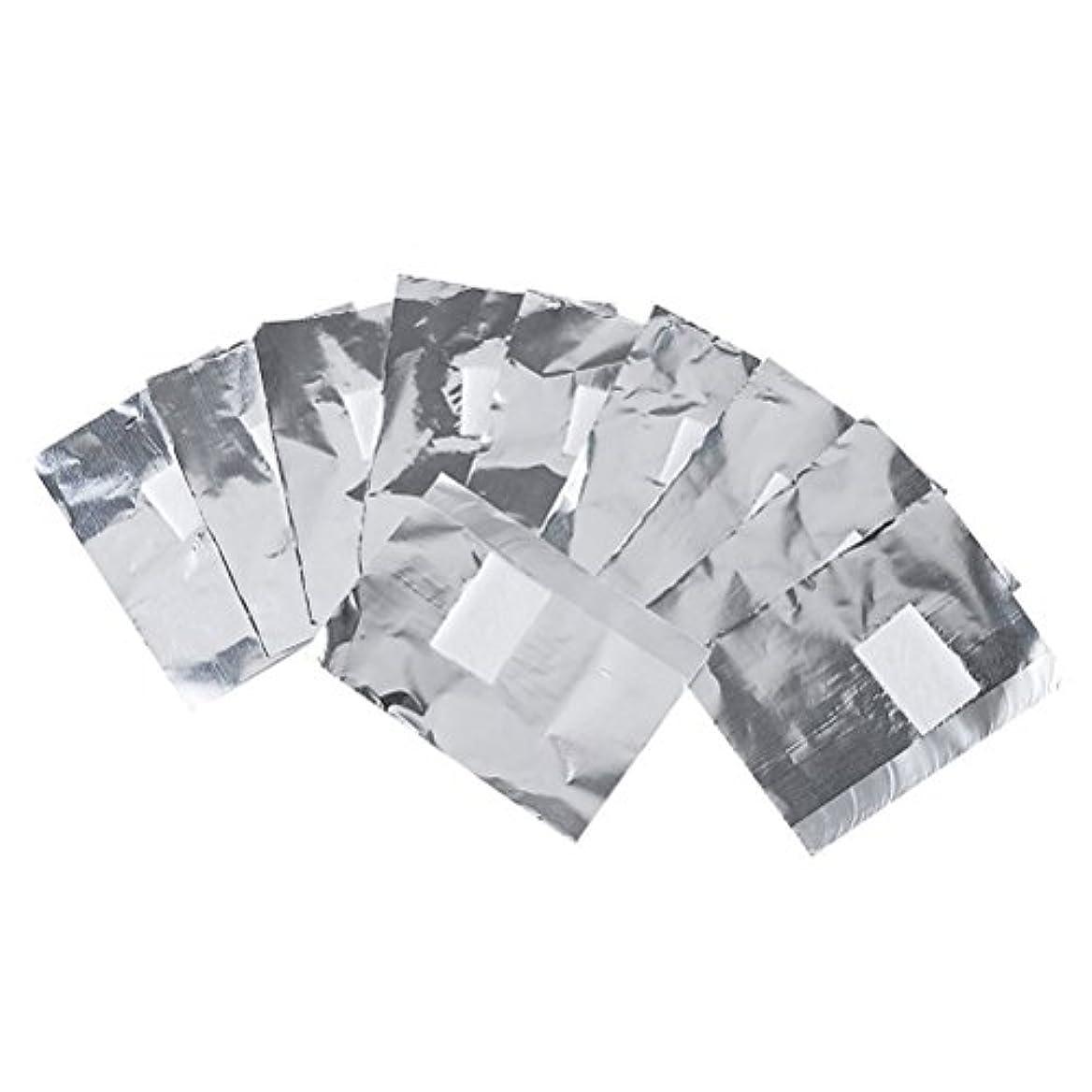 窒素なす高層ビルFrcolor ネイルオフ ジェルオフリムーバー アクリルUVジェル ネイルポリッシュをきれいにオフする ジェル 使い捨て コットン付きアルミホイル ネイル用品 キューティクル 200枚
