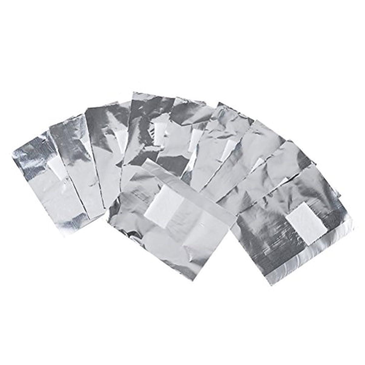 プロット階下利点Frcolor ネイルオフ ジェルオフリムーバー アクリルUVジェル ネイルポリッシュをきれいにオフする ジェル 使い捨て コットン付きアルミホイル ネイル用品 キューティクル 200枚