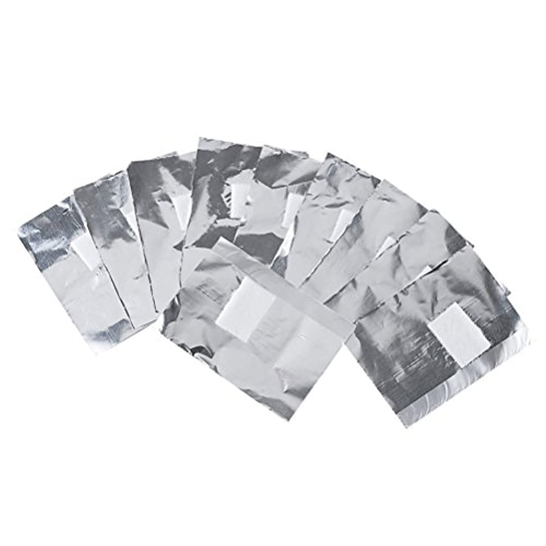 Frcolor ネイルオフ ジェルオフリムーバー アクリルUVジェル ネイルポリッシュをきれいにオフする ジェル 使い捨て コットン付きアルミホイル ネイル用品 キューティクル 200枚