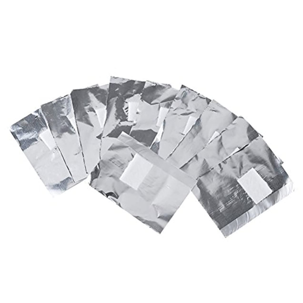 欠席比べるかかわらずFrcolor ネイルオフ ジェルオフリムーバー アクリルUVジェル ネイルポリッシュをきれいにオフする ジェル 使い捨て コットン付きアルミホイル ネイル用品 キューティクル 200枚