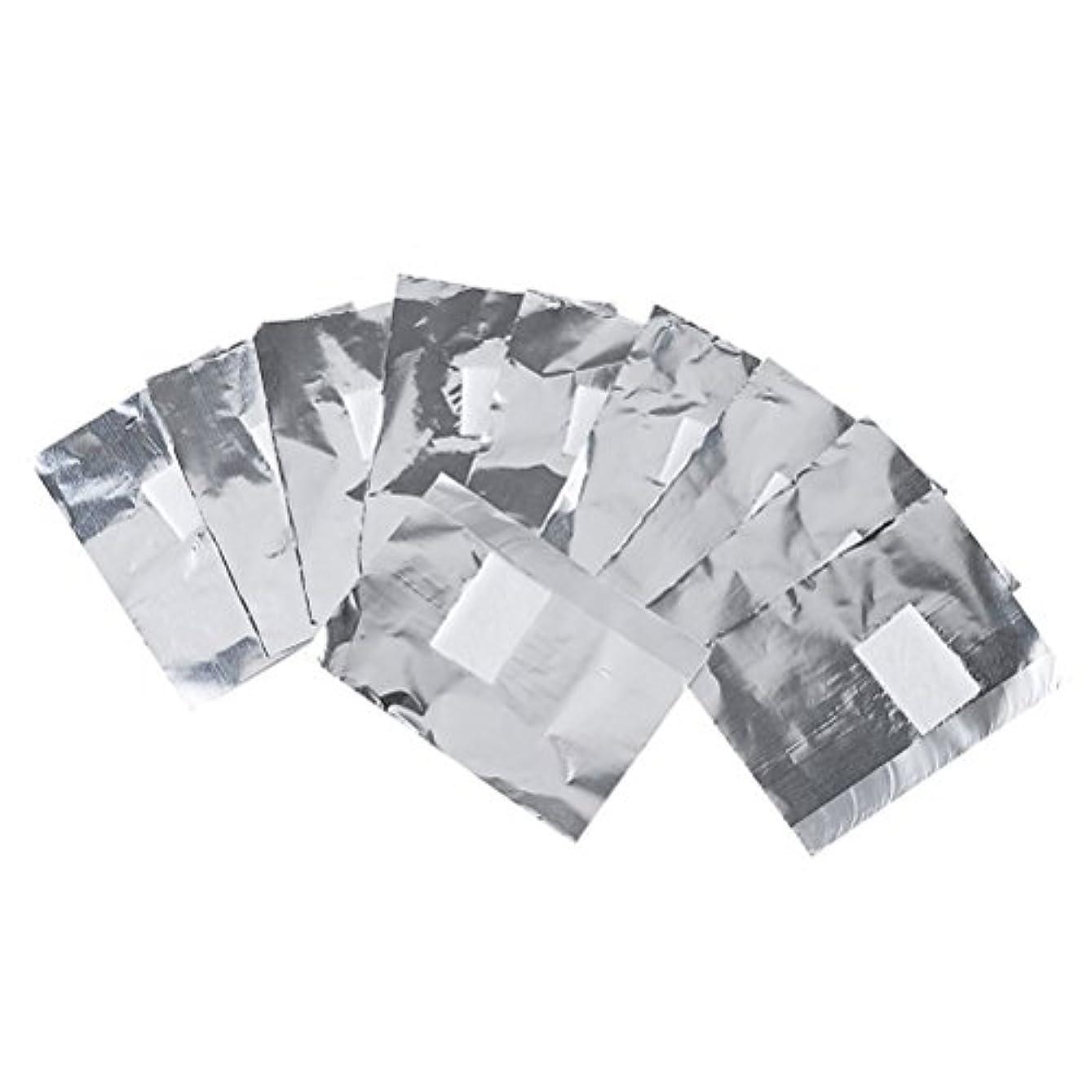 バブルナインへ滞在Frcolor ネイルオフ ジェルオフリムーバー アクリルUVジェル ネイルポリッシュをきれいにオフする ジェル 使い捨て コットン付きアルミホイル ネイル用品 キューティクル 200枚