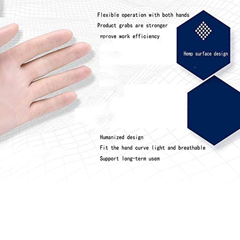 事安全直立Safeguard Nitri Disposable Gloves、パウダーフリー、食品用グローブ、ラテックスフリー、100 Pcサニタリーグローブ (サイズ さいず : S s)