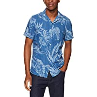 TOMMY HILFIGER Men's Leaf Print Linen Shirt