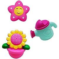 【ノーブランド 品】赤ちゃん ヒマワリ 散水用 小さい お風呂 玩具 3個 セット 贈り物