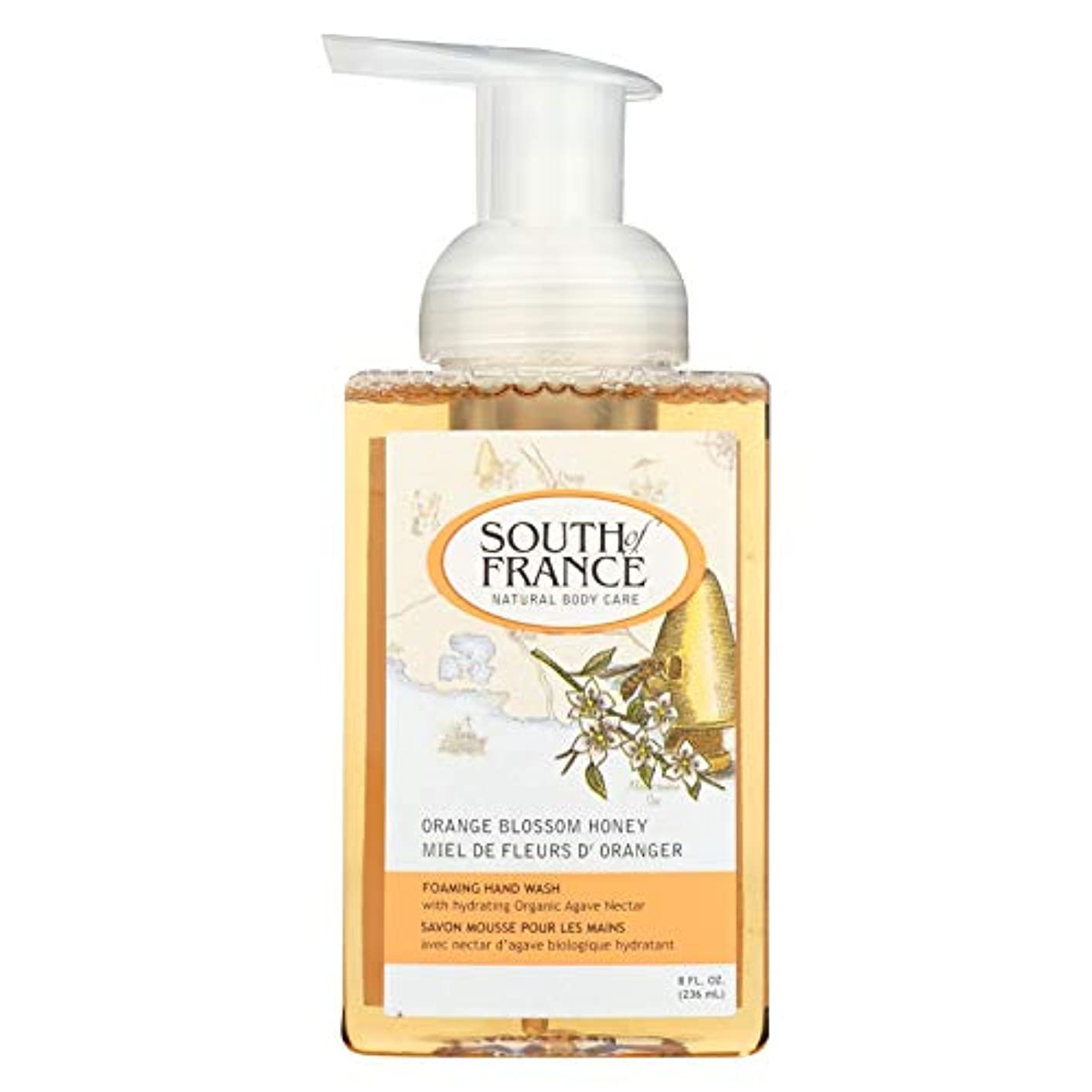溢れんばかりの統合溶融Hand Soap - Foaming - Orange Blossom Honey - 8 oz - 1 each by South Of France