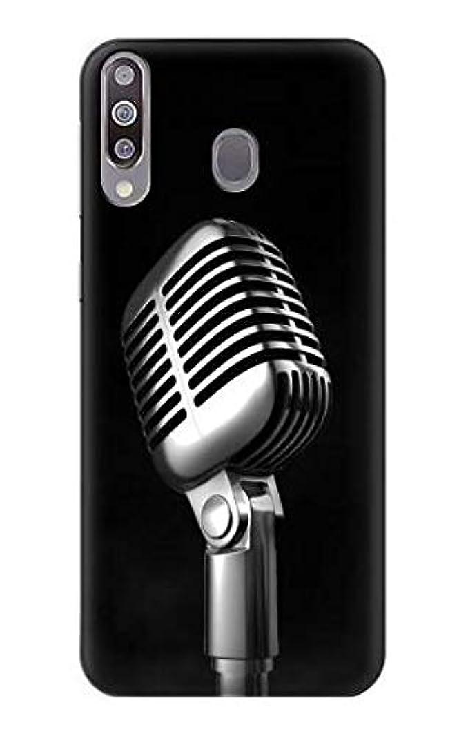の頭の上早く増強するJP1672GA3 レトロ マイク ジャズ音楽 Retro Microphone Jazz Music Samsung Galaxy A30 ケース