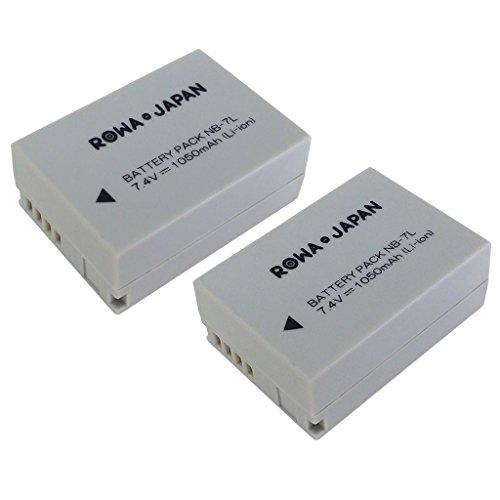 【ロワジャパン社名明記のPSEマーク付】【2個セット】キヤノン PowerShot G10 G11 G12 の NB-7L 互換バッテリー