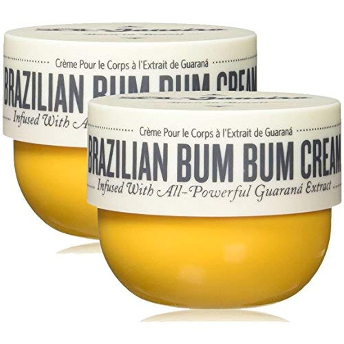 ペンフレンドママ任意Sol De Janeiro Brazilian Bum Bum Cream 8.1oz 2 PACK [並行輸入品]
