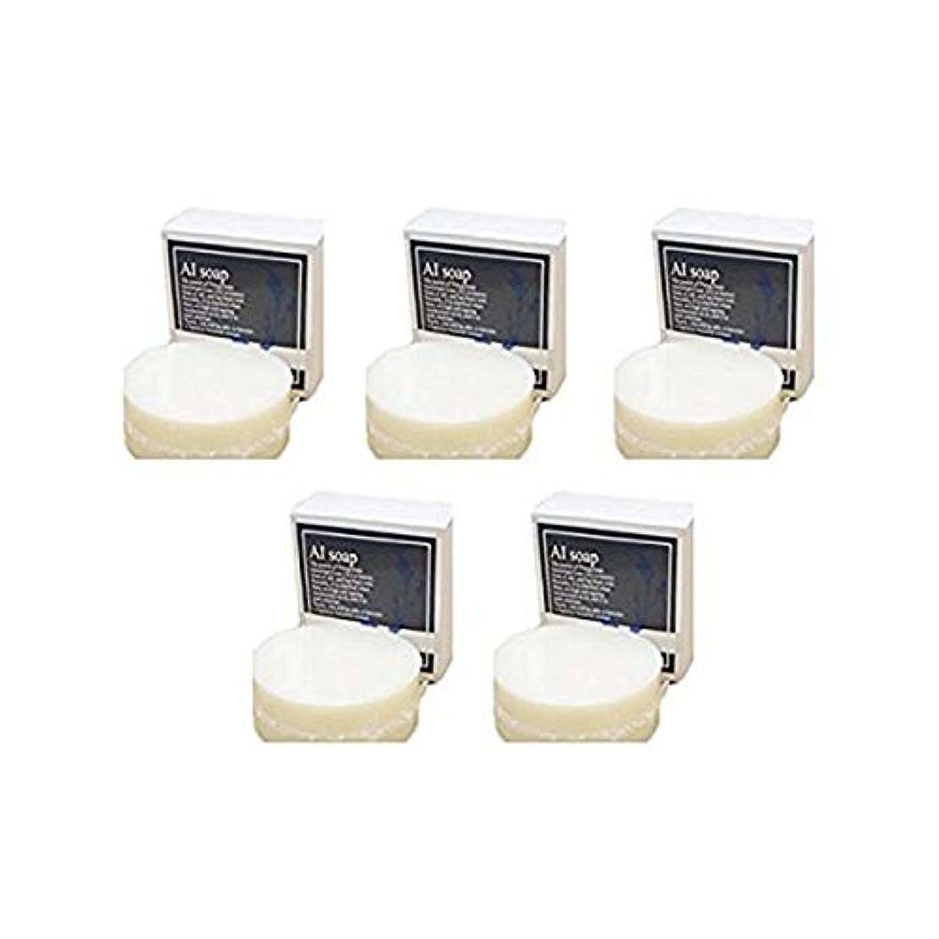 密度一族入浴AI soap 藍石鹸 5個セット(100g×5個)藍エキス配合の無添加石鹸