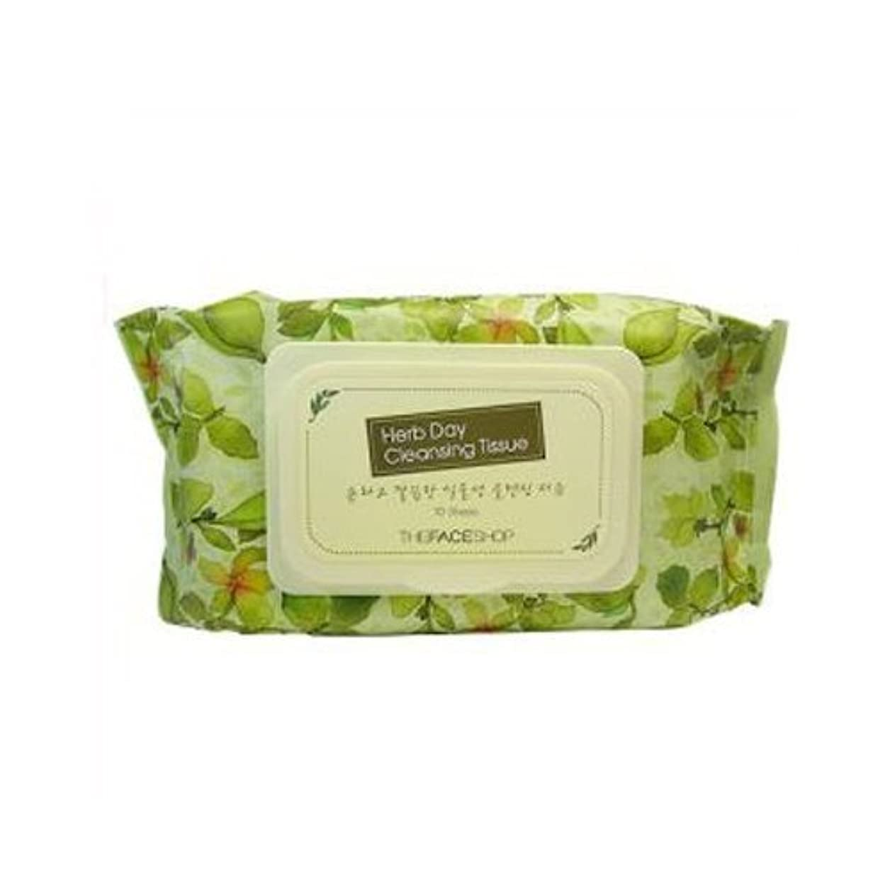 入射永遠に迷彩The Face Shop Herb Day Cleansing Tissue 70 Sheets