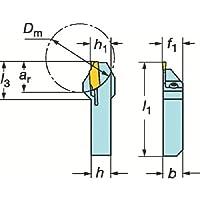 サンドビック QSホールディングシステム コロカット1・2用突切り・溝入れバイト QSLF123E171616B