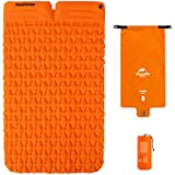 Outdoor Ultra-Light Inflatable Mat Camping Tent Sleeping Pad Hiking Single Thick Moisture-Proof Cushion with Air Bag and Pillow