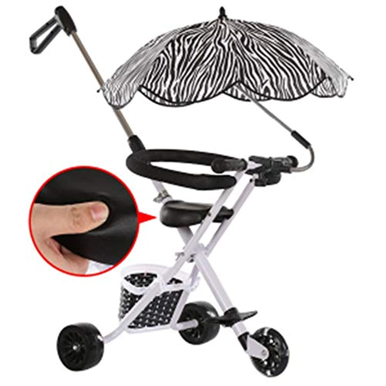 YUMEIGE 子供用三輪車 子供三輪車折りたたみ式三輪車滑りやすいアーティファクトアンチロールオーバー1-7年に適したフラッシュホイール付き軽量トライク 得ることができます