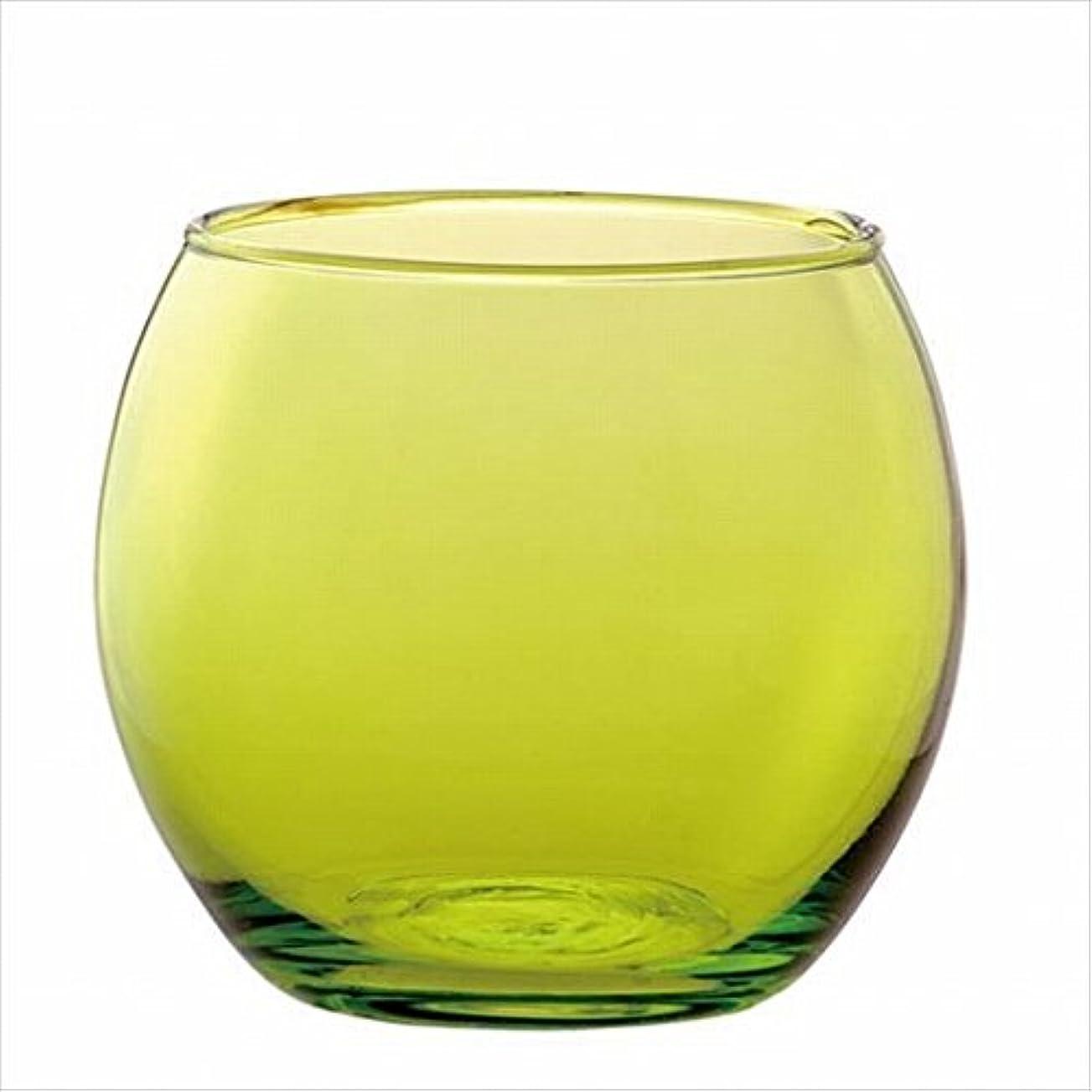 制限する一口ディレクトリカメヤマキャンドル(kameyama candle) スフィアキャンドルホルダー 「 グリーン 」