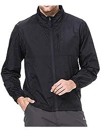 Clothin(クロズイン) ジャケット メンズ 夏 秋 ウィンドブレーカー マウンテンパーカー ラッシュガード UV対策 無地 軽量 CD13011