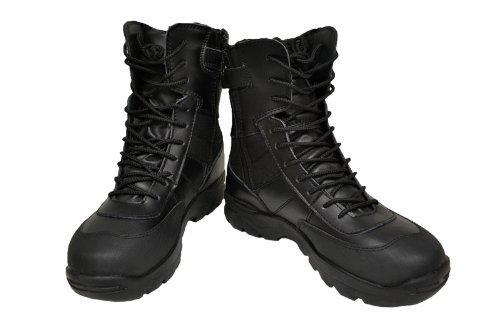 SWAT S.W.A.T サイドジッパー ミリタリーブーツ ジャングルブーツ タクティカルブーツ 黒...