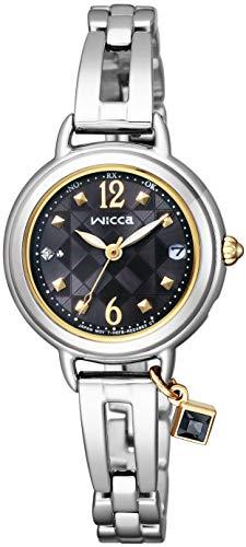 [シチズン]CITIZEN 腕時計 wicca ウィッカ ソーラーテック電波時計 ブレスライン HAPPY DIARY KL0-910-51 レディース