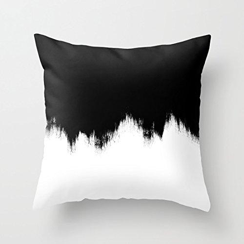 クッション 白黒の抽象アート ヌードクッション 綿100% 45×45 cm
