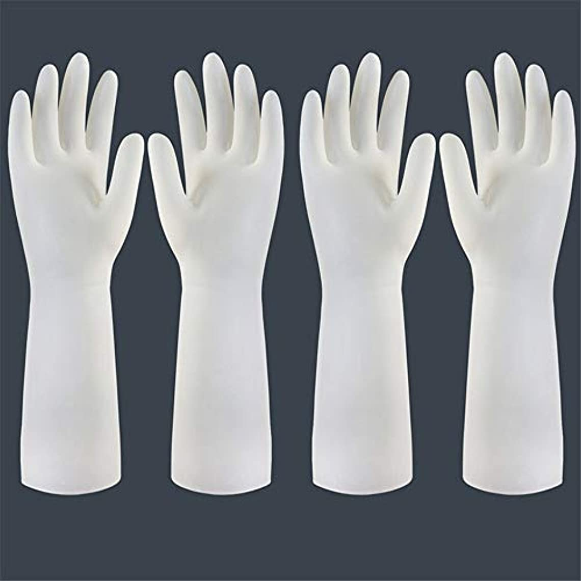 知る出発汗使い捨て手袋 使い捨て手袋の防水および耐久のゴム製台所手袋、小/中/大 ニトリルゴム手袋 (Color : Long-2 pair, Size : S)