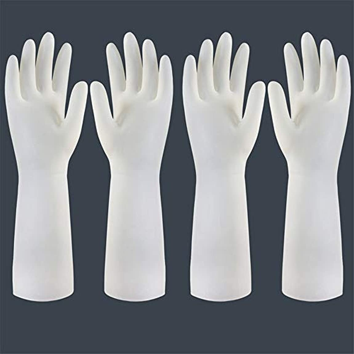 フロー分不純使い捨て手袋 使い捨て手袋の防水および耐久のゴム製台所手袋、小/中/大 ニトリルゴム手袋 (Color : Long-2 pair, Size : S)