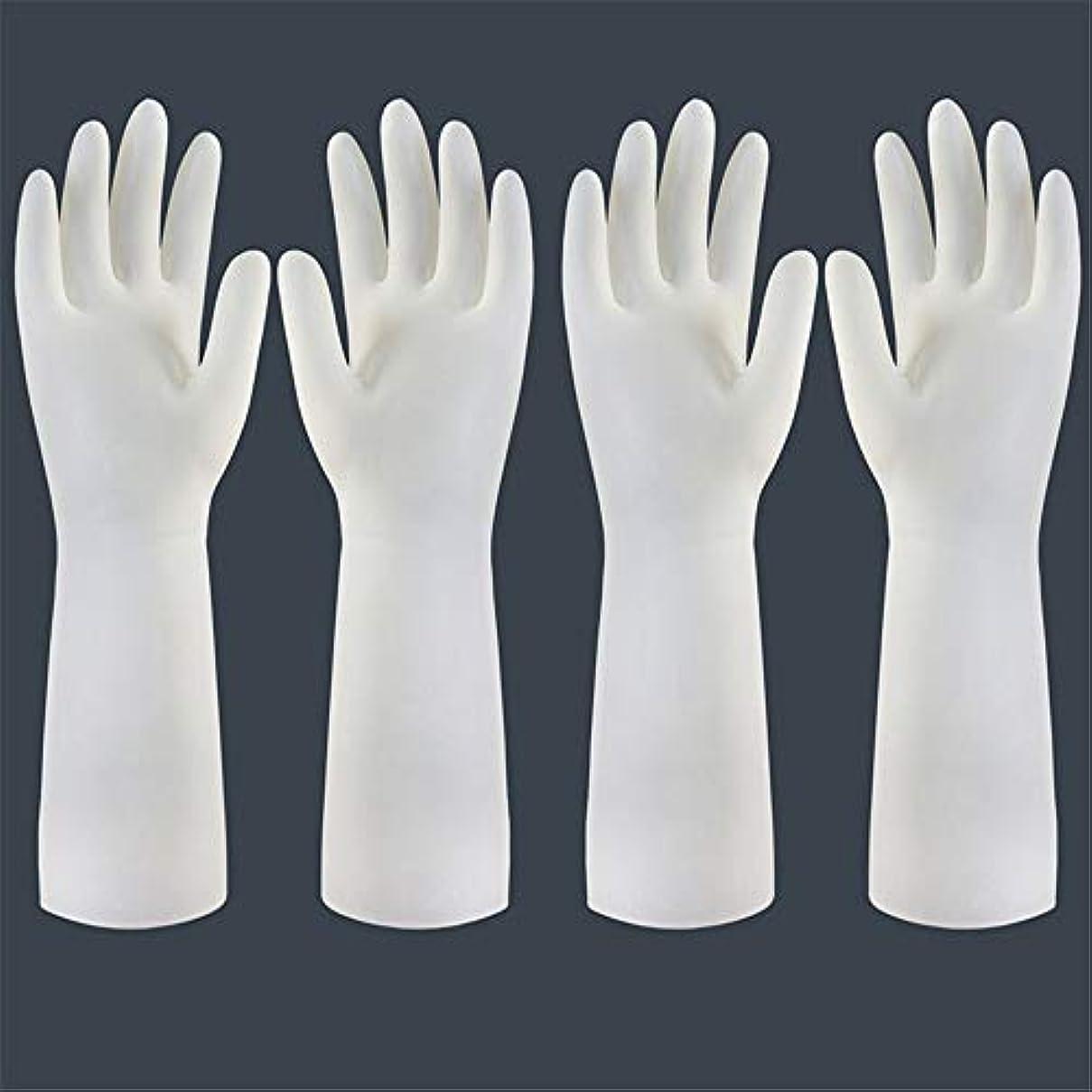 兵士一掃する解凍する、雪解け、霜解け使い捨て手袋 使い捨て手袋の防水および耐久のゴム製台所手袋、小/中/大 ニトリルゴム手袋 (Color : Long-2 pair, Size : S)
