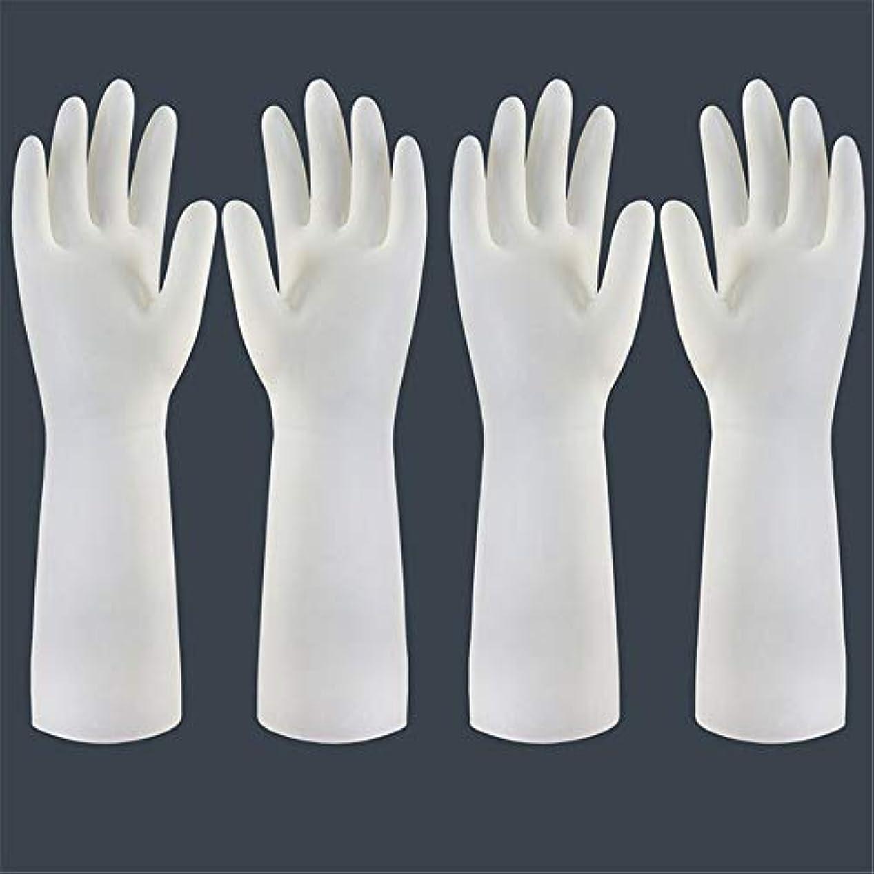 境界苦情文句オリエンテーション使い捨て手袋 使い捨て手袋の防水および耐久のゴム製台所手袋、小/中/大 ニトリルゴム手袋 (Color : Long-2 pair, Size : S)
